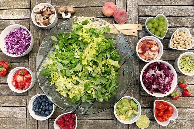 differents aliments pour une alimentation saine